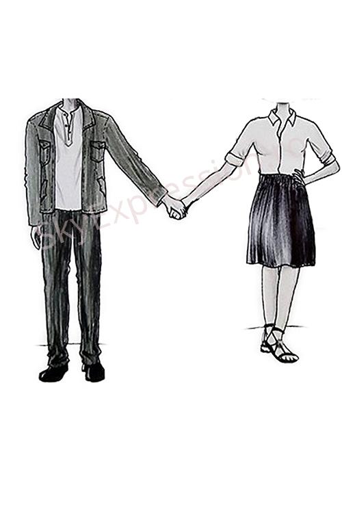caricaturi digitale cuplu
